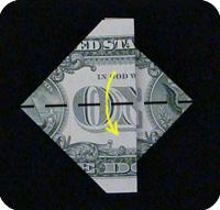денежное сердце оригами 24