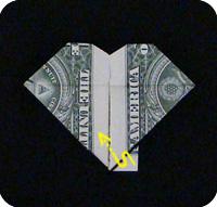 денежное сердце оригами 25