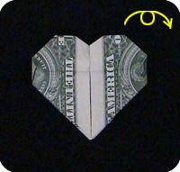 денежное сердце оригами 27