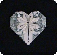 денежное сердце оригами 28