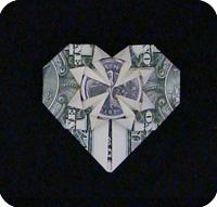 денежное сердце оригами 29