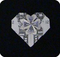 денежное сердце оригами 31
