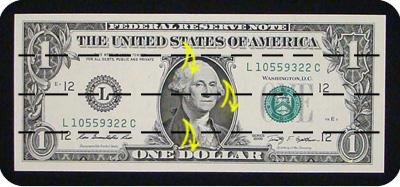 журавлик закладка из денег 1