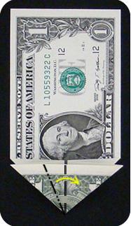журавлик закладка из денег 10