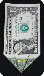 журавлик закладка из денег 14