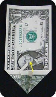 журавлик закладка из денег 15