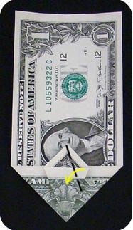 журавлик закладка из денег 16