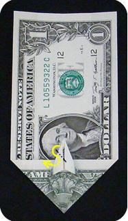 журавлик закладка из денег 19
