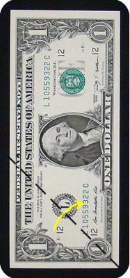 журавлик закладка из денег 2