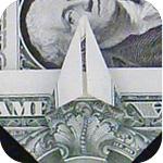 журавлик закладка из денег 20
