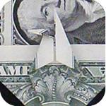 журавлик закладка из денег 21