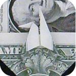 журавлик закладка из денег 22