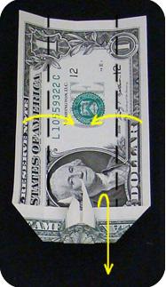 журавлик закладка из денег 24