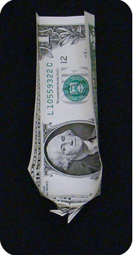 журавлик закладка из денег 25