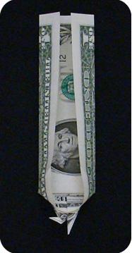 журавлик закладка из денег 26