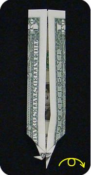 журавлик закладка из денег 27