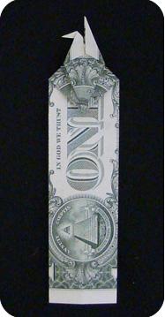 журавлик закладка из денег 28