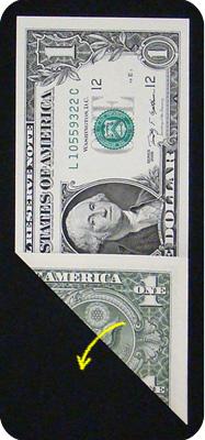журавлик закладка из денег 3