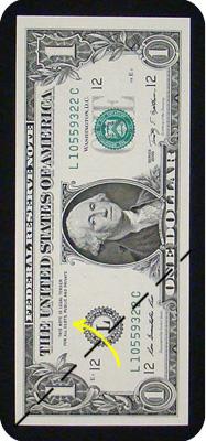 журавлик закладка из денег 4