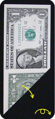 журавлик закладка из денег 5