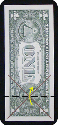 журавлик закладка из денег 6