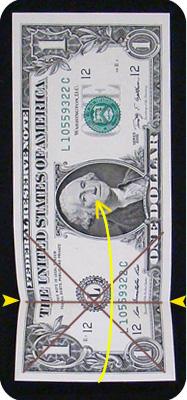 журавлик закладка из денег 8
