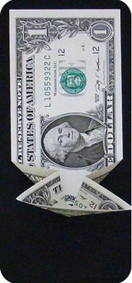 журавлик закладка из денег 9
