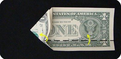 закладка с сердцем из денег 10