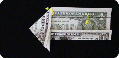 закладка с сердцем из денег 12