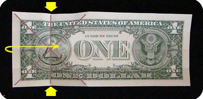 закладка с сердцем из денег 5