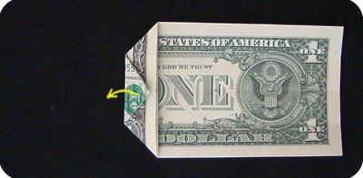 закладка с сердцем из денег 8