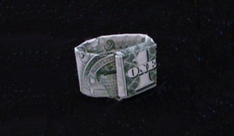 как сделать кольцо из денег оригами своими руками