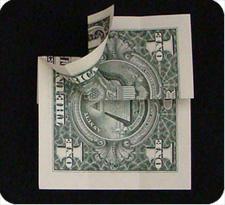 крест из денег 10