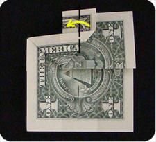 крест из денег 11