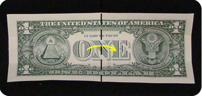 крест из денег 2