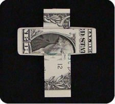крест из денег 27