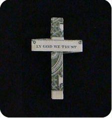 крест с надписью 23