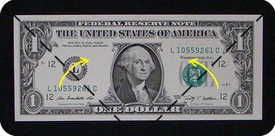 листок из денег 1