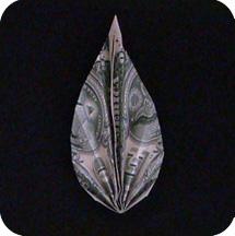 листок из денег 10