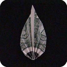 листок из денег 9