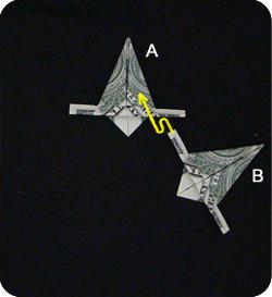 оригами из денег звезда 14