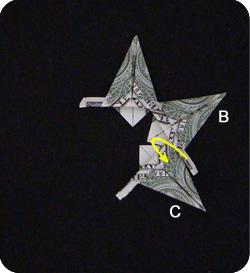 оригами из денег звезда 17