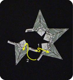 оригами из денег звезда 18