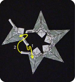 оригами из денег звезда 19