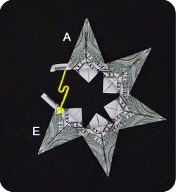 оригами из денег звезда 20