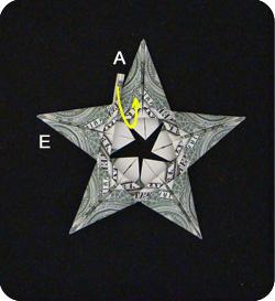 оригами из денег звезда 21