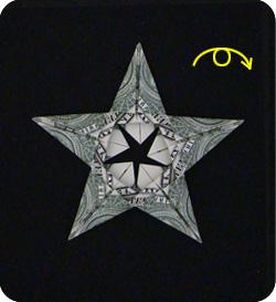 Как сделать звезду из деньги 153