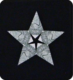 оригами из денег звезда 23