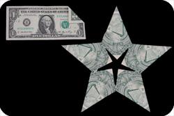 оригами из денег звезда 24