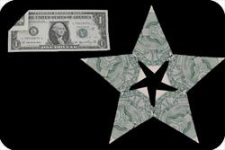 оригами из денег звезда 25
